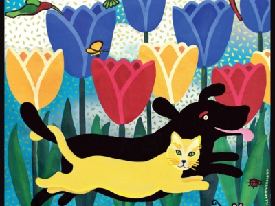 Life is Better With a Friend. Giclee print 8.5″ x 11″ copyright HIllary Vermont