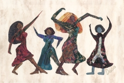Fine Ladies Dancing Greeting Cards