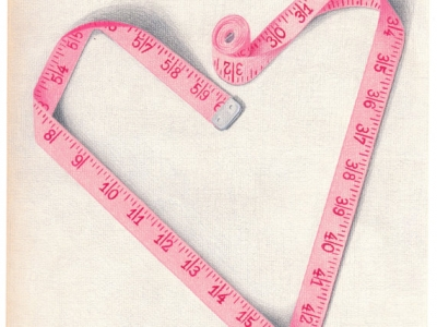 You Can't Measure Love giclee print copyright Hillary Vermont