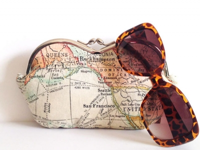 Expedition, World Map, a large sunglass case or small clutch