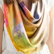"Marilyn Biles Collection ""In Bright Sun"" Silk Scarf"