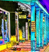 East Palace Ave. Santa Fe / The Rainbow Man