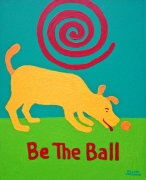 Teal Tee, Be the Ball yellow dog copyright Hillary Vermont